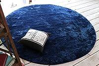 豊富なカラーバリエーション 色が選べるラグ ms300-140en(SUL) ●円形 約140×140cm インディゴ カラフル ふんわり やわらか ラグマット 洗える ウォッシャブル 洗濯機OK ホットカーペットカバー 床暖対応 オールシーズンラグ 円型 円い 丸