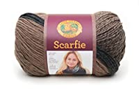 Lion Brand Yarn 826-200 Scarfie Yarn, Taupe/Charcoal by Lion Brand Yarn