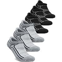 TSLA Men & Women 6-Pairs Athletic Performance Running No Show Active Socks