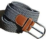 [KUMANAGI] 7色 選べる シンプル メッシュ ベルト 120cm ストレッチ 素材 どこでも 留まる フリーサイズ (ダークグレー)