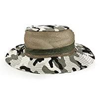 Outdoor Fishing Hunting Tactical Camouflage Hat - Black & White Camo
