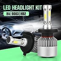 H4 HB2 9003 72W 7200LM 6000Kウォータープルーフ自動車用LEDヘッドライトハイ/ロービームライトカーLEDヘッドランプバルブフォグランプクールホワイトS2 2個セット