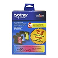 Brother ® lc65インクカートリッジInkCart、Hi Yld、3パック、AST 15669( Pack of 2)