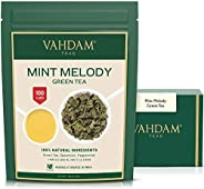 VAHDAM, Mint Green Tea Loose Leaf (100 Cups) | RICH ANTI-OXIDANTS | Peppermint Tea With Pure Green Tea Leaves