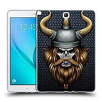 Head Case Designs バイキング スカル・ウォリアーズ ソフトジェルケース Samsung Galaxy Tab A 9.7