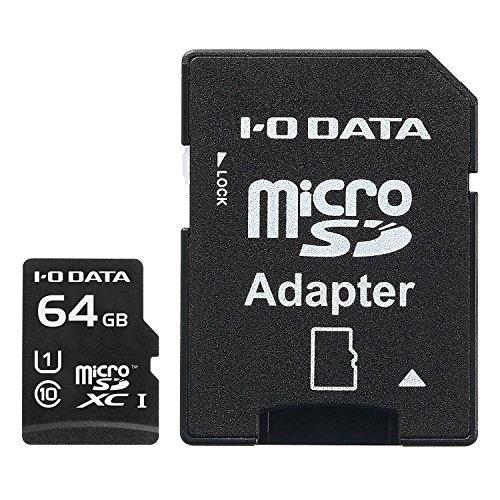 アイ・オー・データ UHS スピードクラス1対応 microSDXCメモリーカード(SDカード変換アダプター付) 64GB MSDU1-64G
