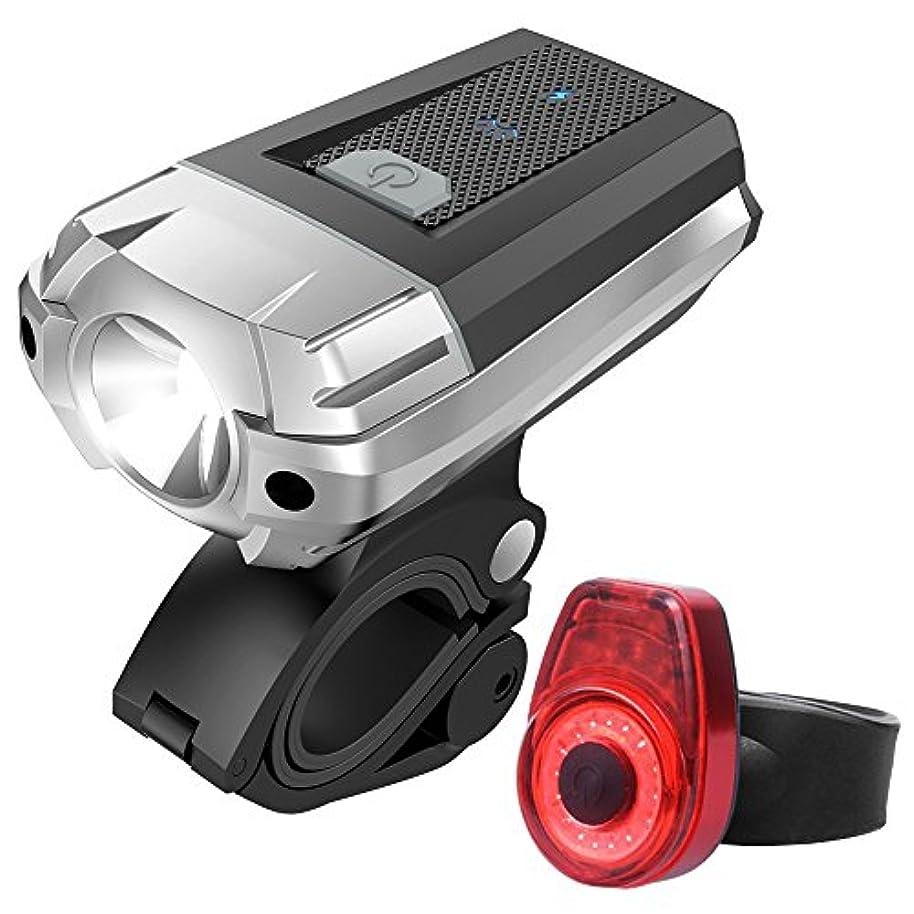 消費者聡明落とし穴充電式自転車ライト USB充電警告自転車テールライトヘッドライト充電テールライトバイクライト