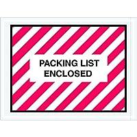 Tape Logic TLPL409 Packing List Enclosed Envelopes 4 1/2 x 6 Red/White (Pack of 1000) [並行輸入品]