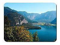 オーストリア、森、木、湖、山 パターンカスタムの マウスパッド 旅行 風景 景色 (22cmx18cm)