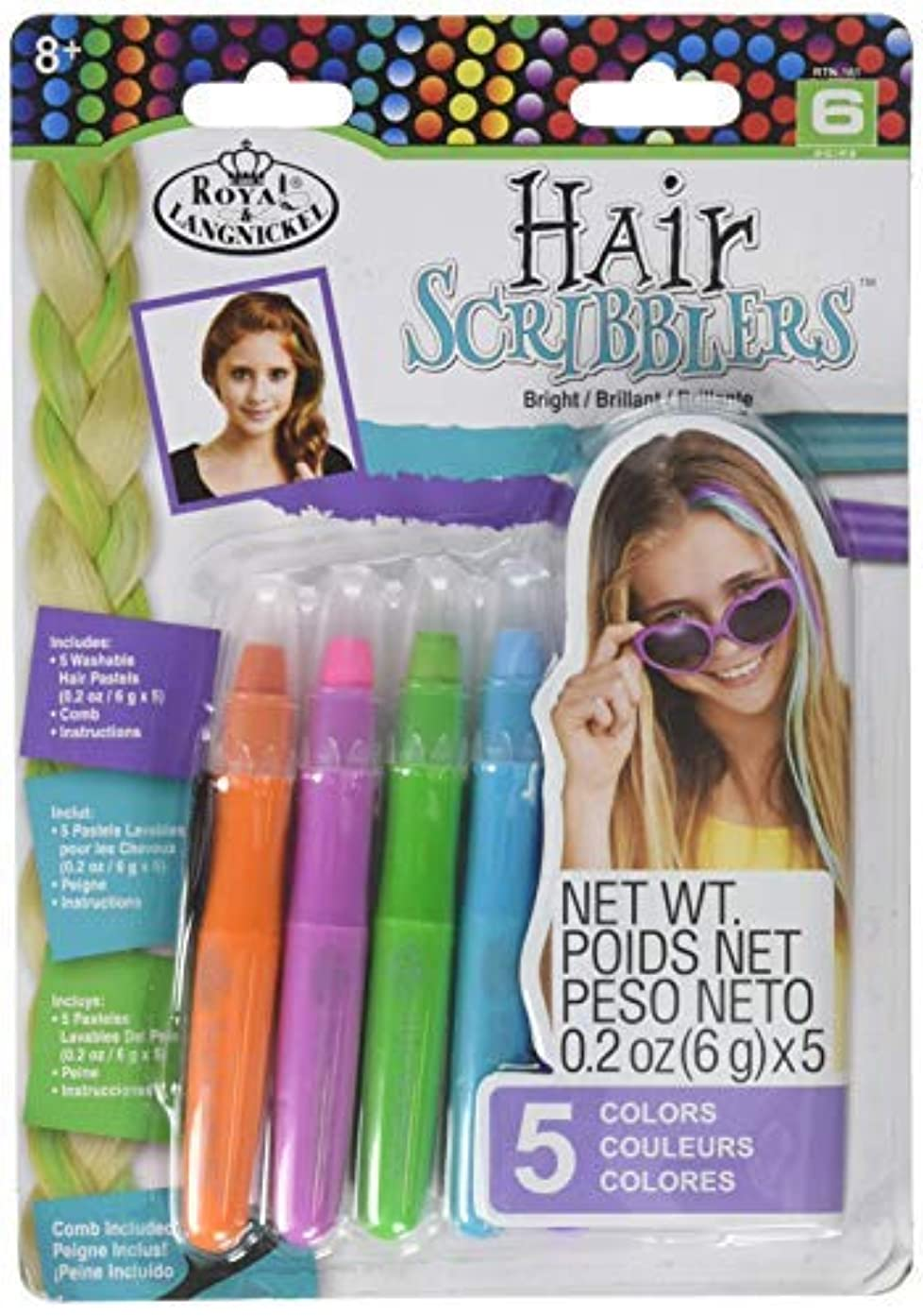 結婚した未使用かけるRoyal RTN-161 Hair Scribblers 1 Comb 5pc [並行輸入品]