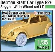 デフモデル 1/35 第二次世界大戦 ドイツ軍 ドイツスタッフカー タイプ82E用ホイールセット01 ワイド型 (RFM用) プラモデル用パーツ DW30045