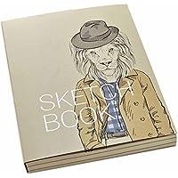 BUYITNOWソフトカバースケッチパッドa4サイズ空白Sketchbook 128シート グレイ