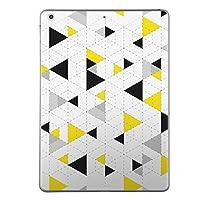 iPad Air スキンシール apple アップル アイパッド A1474 A1475 A1476 タブレット tablet シール ステッカー ケース 保護シール 背面 人気 単品 おしゃれ 模様 黄色 三角 011387