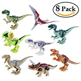 恐竜ビルディングブロック恐竜ミニチュアアクションフィギュア8個