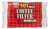 カリタ コーヒーフィルター NK101濾紙 1~2人用 100枚入り ブラウン #11107
