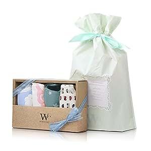 【WORLD PORT】出産祝い 赤ちゃん スタイ よだれかけ 4枚セット 男の子用 ラッピング済み 誕生日 プレゼント ビブ ベビー