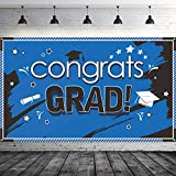 卒業式バナー 2019 Congrats Grad バナー 卒業パーティー用品 2019 ブルー Blulu-Graduation Banner-01
