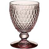 (Rose, 8 x 8 x 14.4 cm) - Villeroy & Boch Boston Coloured Water Goblet, Crystal, Rose