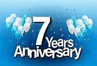 Yeele Bithday Backdrops 9x 6ft/2.7X 1.8M Anniversary Sweetベビーシャワー7th Bithdayパーティーデコレーション画像大人用芸術的肖像写真の撮影小道具写真撮影背景