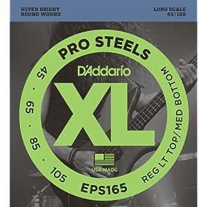 D'Addario ダダリオ ベース弦 プロスティール Long Scale .045-.105 EPS165 【国内正規品】