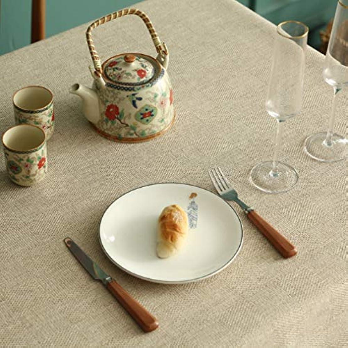 類人猿年齢独特のテーブルクロス カーキ 90×150cm 綿麻生地 四季用 耐熱 耐久性 防塵 水洗い 滑り止め 長方形 簡約 新築お祝い 贈り物 テーブルカバー 食卓カバー