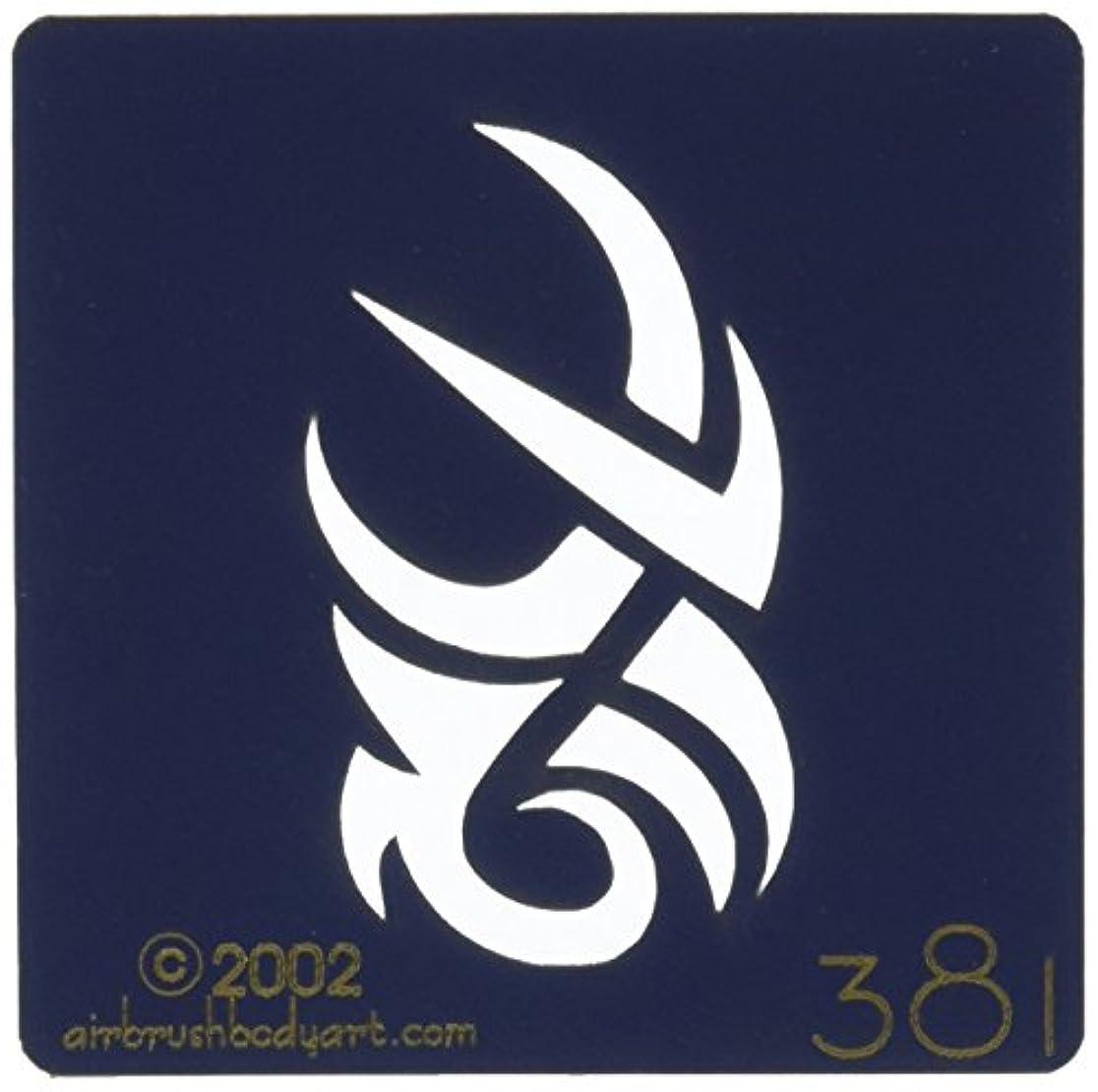 アルファベット法律帆ボディステンシル #0381