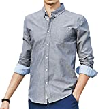 Pioneer Campメンズ オックス ボタンダウンシャツ 長袖 Yシャツ カジュアルビジネス ボタンダウン ワイシャツ AR666211 XXL