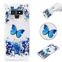 Samsung Galaxy Note 9 シェル, バックシェル 弁護者 インパック シェル 〜と バックシェル 保護 シェル カバー の Samsung Galaxy Note 9 (Blue Butterfly)