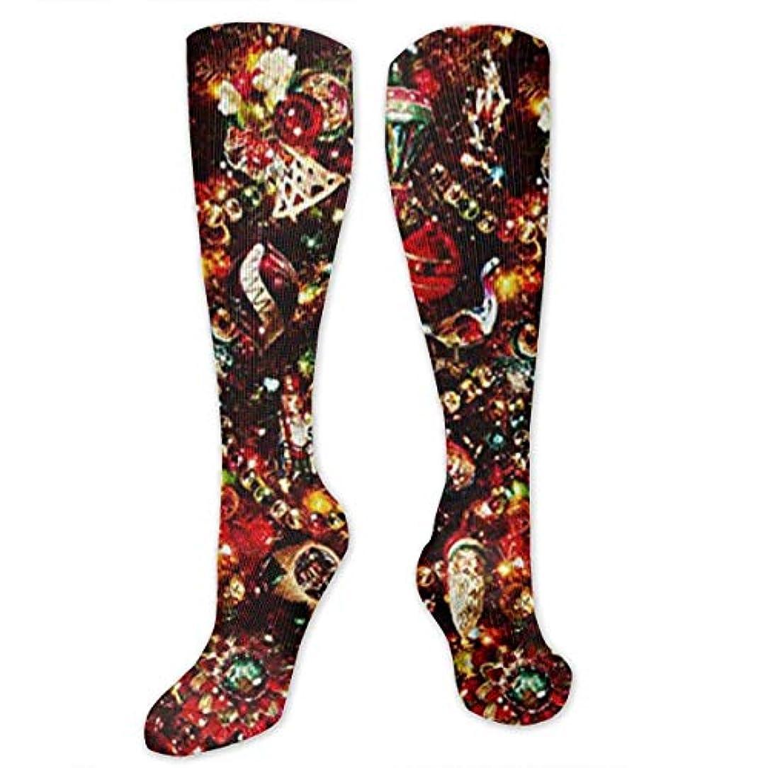 週末一握り評価靴下,ストッキング,野生のジョーカー,実際,秋の本質,冬必須,サマーウェア&RBXAA Christmas Tree Ornaments Shiny Socks Women's Winter Cotton Long Tube...