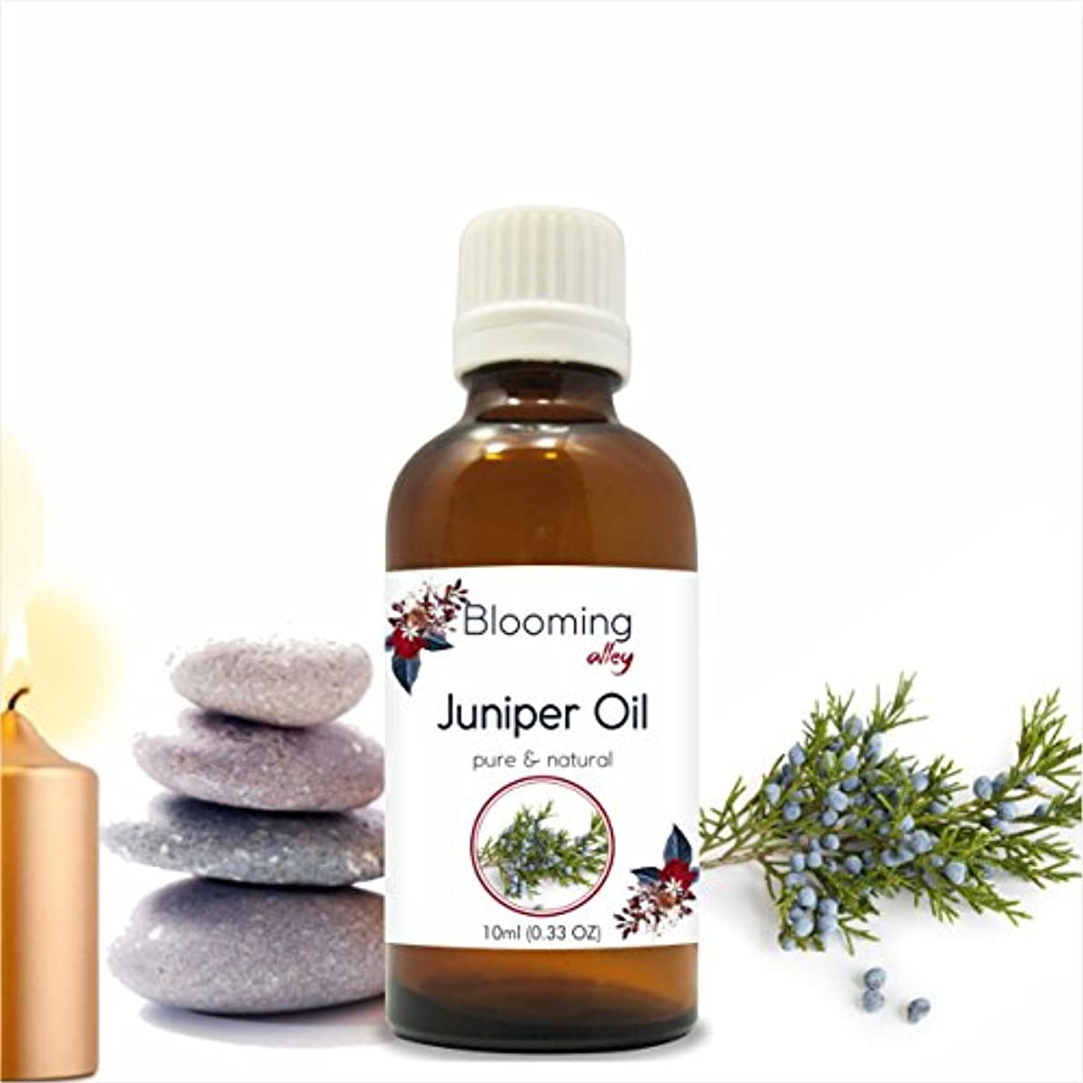 マイクロフォン宇宙太鼓腹Juniper Oil (Juniperus Communis) Essential Oil 10 ml or 0.33 Fl Oz by Blooming Alley
