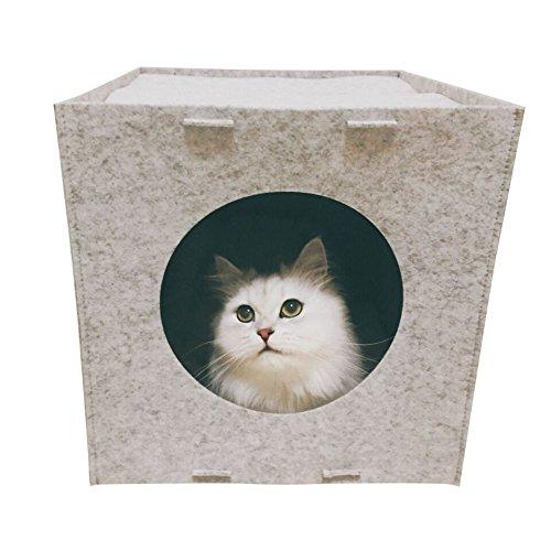 FIRIK(フィリク)猫 ハウス室内用 猫寝袋 猫ベッド フェルト ねこ 犬 ベッド 犬小屋 家具収...