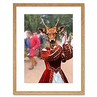 Deer Dancer Traditional Costume Wall Art Framed Wall Art Print 鹿ダンサー壁壁