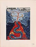 カール・G・ユングの赤Book–The Incantations 54–Fineアートプリント25″ x 32.8″ ( 63.5X 83.3CM