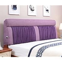 Vercart ヘッドボード ヘッドガード クッション 新生活 洗えるカバー ベッド オシャレ 背もたれ インテリア 紫 幅180cm 高さ60cm 奥行き12cm