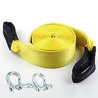 4m 3t 157.4in x 1.96inポリエステル牽引ロープ2フック6613LB回収牽引ベルト,10m12t