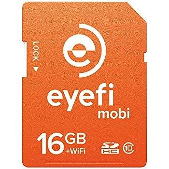ワイヤレスSDHCカード Eyefi Mobi (アイファイ モビ) 16GB Class10 WiFi内蔵 (最新パッケージ版)