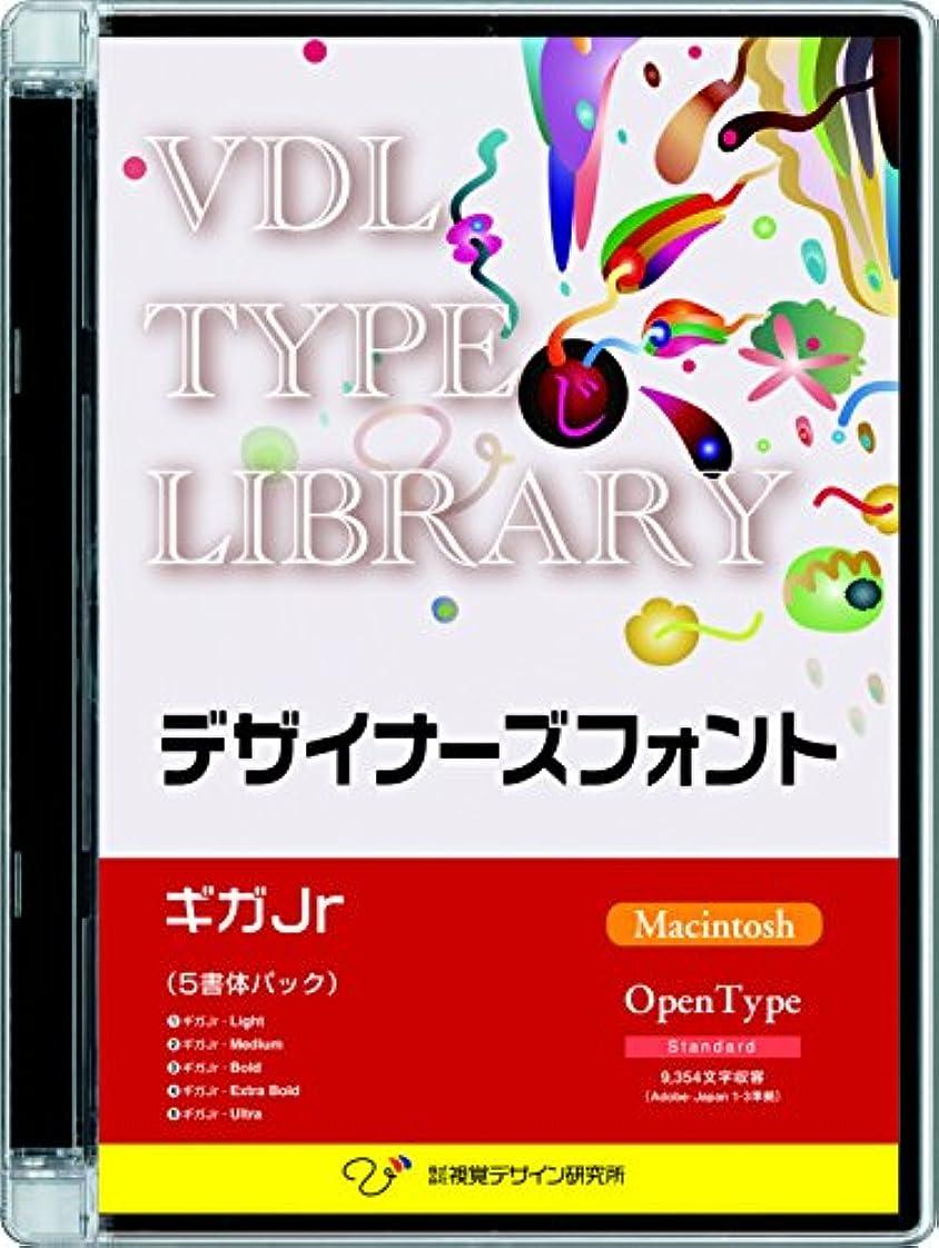 リスキーなスリム叫ぶVDL TYPE LIBRARY デザイナーズフォント OpenType (Standard) Macintosh ギガJr ファミリーパック
