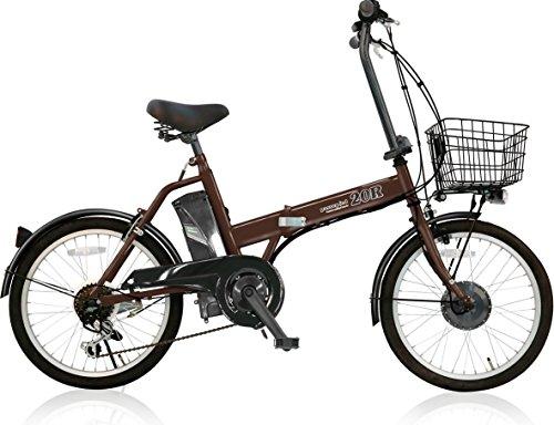 AIJYU CYCLE 折りたたみ電動アシスト自転車 パスピエ20R シマノ6段ギア 20インチ 5Ahリチウムイオンバッテリー 型式認定車両(TSマーク) (ブラウン)