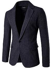 YFFUSHI メンズ テーラードジャケット 長袖 一つボタン 全3色 M-2XL スーツ生地 紳士 上品 きれいめ 四季 カジュアル スリム ビジネス