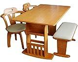 ダイニングテーブルセット 4点セット 伸縮テーブル ベンチ (ナチュラル)