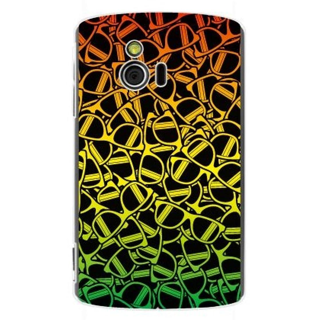 評決マークされた国旗YESNO サングラス ラスタ (クリア) / for Sony Ericsson mini S51SE/EMOBILE ESEM51-PCCL-201-N028