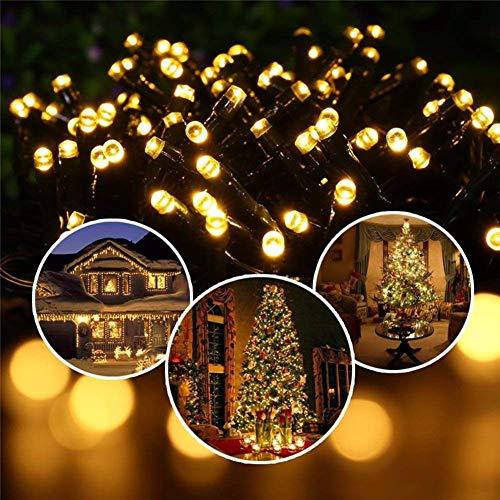 イルミネーションライト COZYSWAN 飾りライト 四つの色 ソーラー USB充電対応 ガーデンライト 防水 高輝度 ソーラーライト 太陽発電 クリスマス 正月用 100LED 12.5M (四彩)