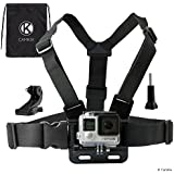 CamKix Chest Mount Harness for Gopro Hero 6, 5, Session, Hero 4, Session, Black, Silver, Hero+ LCD, 3+, 3, 2, 1 Black