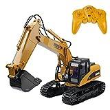 15チャンネル2.4Gクローラー全機能リモートコントロールショベルRC建設トラクター車のおもちゃ (15CH 掘削機)