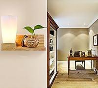 ガラスウッドウォールランプ、モダンなベッドルームアイロンバルコニーコリドールベッドサイドランプL30cm * H28cm g (色 : B)