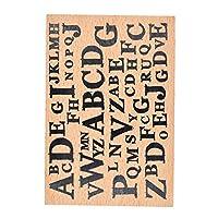 MissOrange『木製ゴム印』大きいサイズ クリエイティブスタンプ クラフトカード スクラップブッキング 手帳用 M-23 (Alphabet)