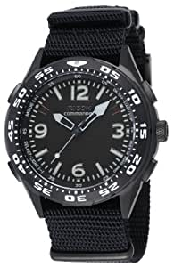 [リコー]RICOH 腕時計 コマンダー・リマインダー 電磁誘導充電式 アナログ表示 バイブレーションアラーム機能 替えベルト付き ブラック 660102-93 メンズ