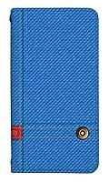 [Qua phone PX LGV33] スマホケース ベルトなし ケース デザイン手帳 キュア フォン 9999-A. デニムライトブルー かわいい おしゃれ かっこいい 人気 柄 ケータイケース