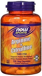 NOW Foods - アルギニン及びシトルリン 500/250 - 120カプセル