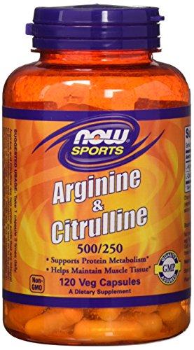 NOW Foods - アルギニン及びシトルリン 500/250 - 120カプセル 海外直送品